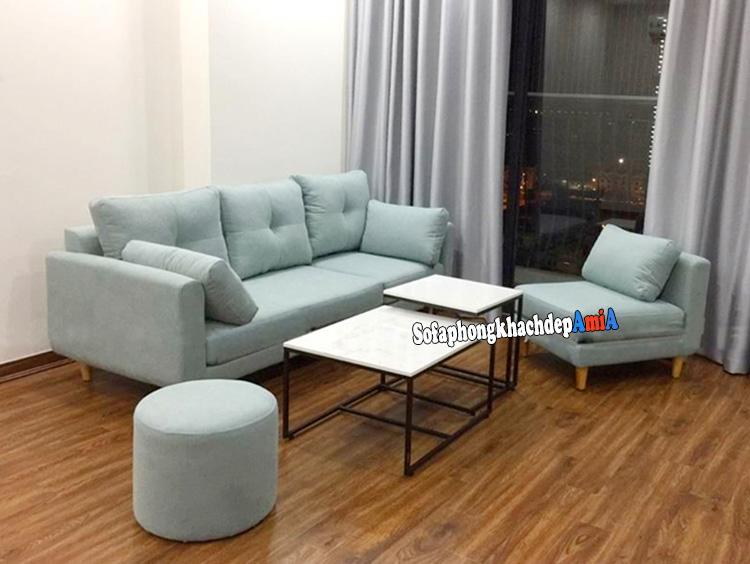 Hình ảnh Sofa bọc nỉ đẹp cho phòng khách hiện đại và sang trọng