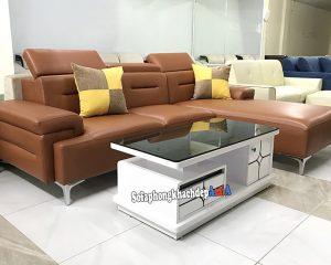 Hình ảnh Sofa da nhập khẩu Hàn Quốc cho phòng khách cao cấp
