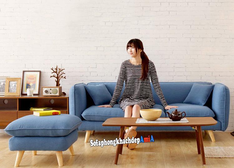 Hình ảnh Sofa nỉ cho phòng khách nhỏ hẹp giá rẻ Hà Nội