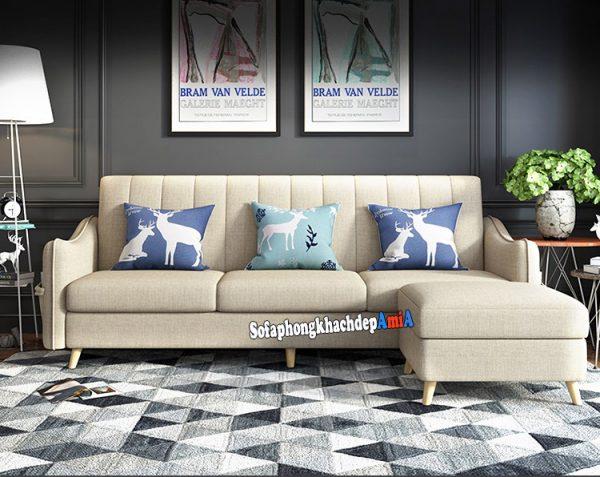 Hình ảnh Sofa nỉ nhỏ đẹp cho phòng khách nhỏ hẹp hiện đại