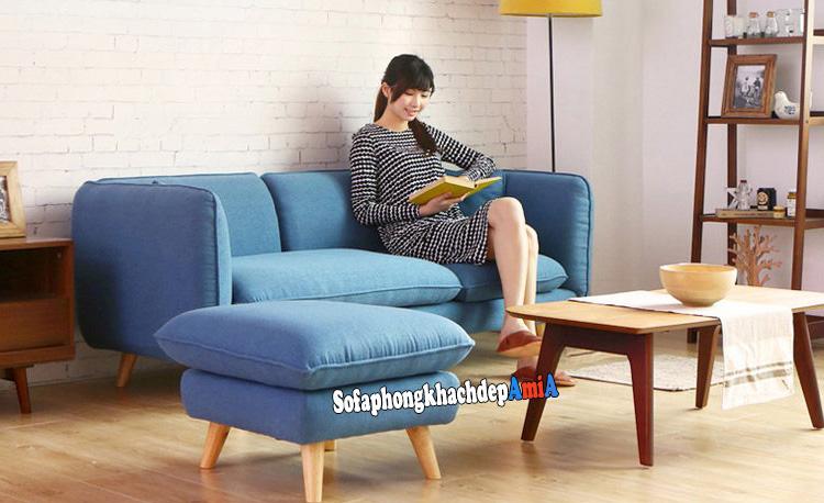 Hình ảnh Sofa phòng khách nhỏ hẹp cho nhà nhỏ, chung cư nhỏ xinh xắn
