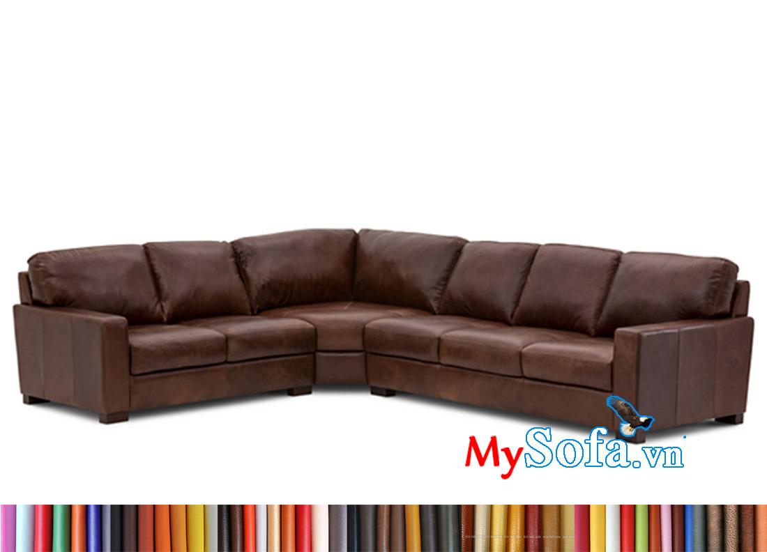 Sofa da đẹp cho phòng khách rộng