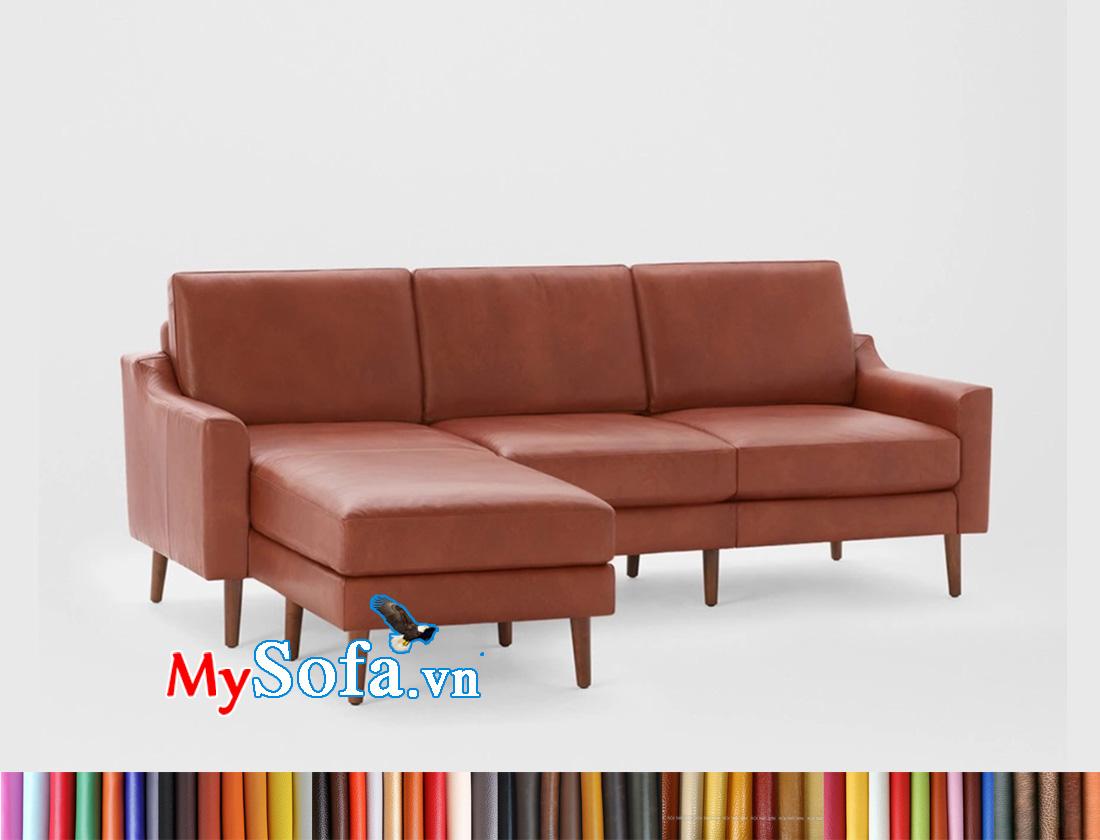 Ghế sofa đẹp màu lâu da bò