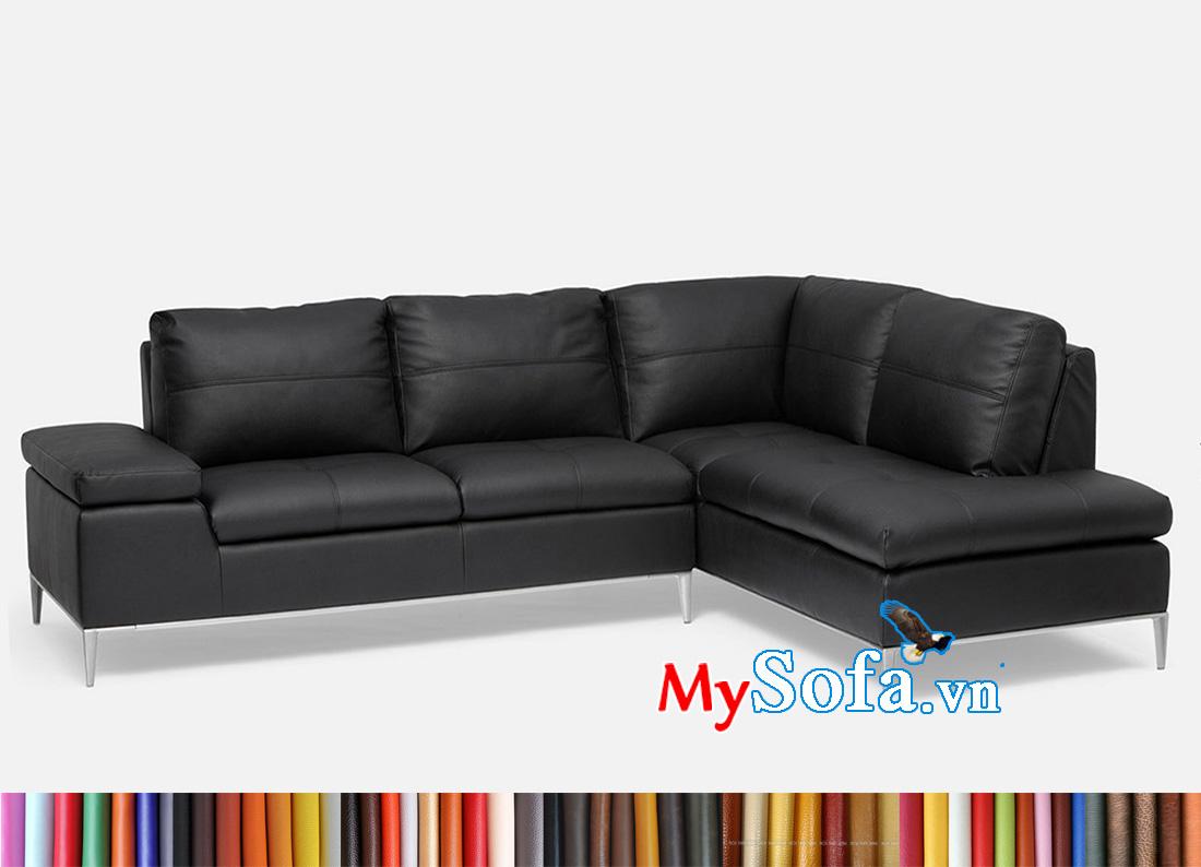 Ghế sofa phòng khách chung cư đẹp màu đen. Màu đen thường mang tới nét đẹp của sự sang trọng