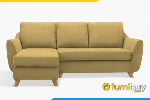 Ghế sofa góc nỉ nhà chung cư FB20064