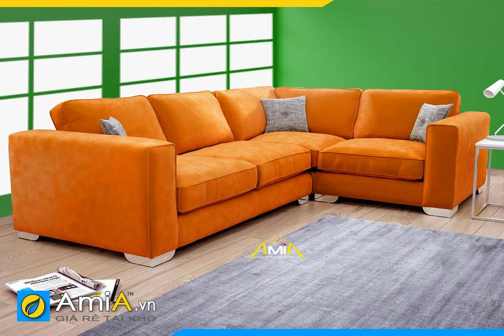 Màu cam bắt mắt cho bộ ghế sofa đẹp phòng khách mã AmiA 20231