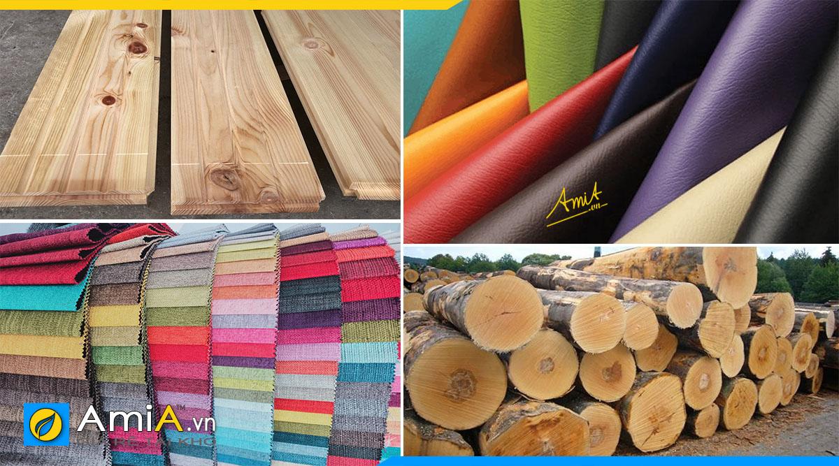 Sofa góc chữ V được làm từ đa dạng các chất liệu khác nhau