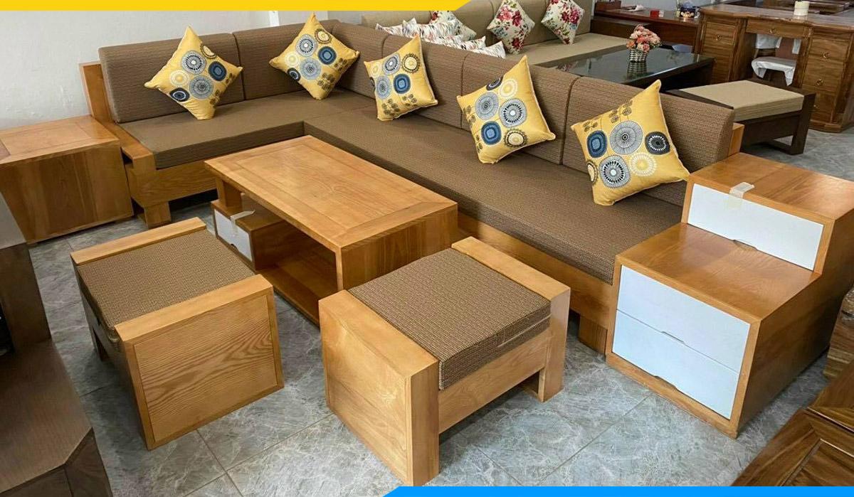 Màu sắc sofa tươi sáng, phù hợp với hầu hết các không gian hiện đại ngày nay