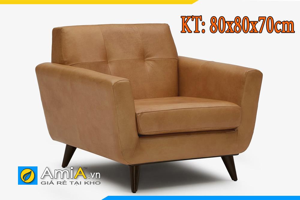 Ghế sofa da micro với kích thước phổ thông