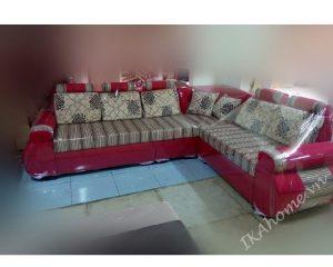 Mẫu sofa nỉ màu đỏ đun