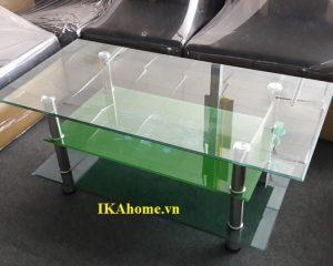 Bàn sofa kính giá rẻ mầu xanh nõn chuối