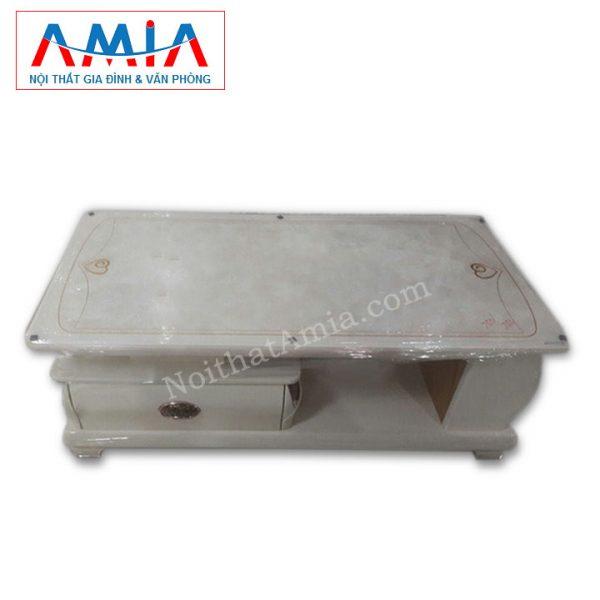 Ảnh đại diện cho mẫu bàn trà sofa mặt đá trắng AmiA BTR 146