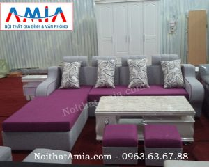 Hình ảnh cho sofa nỉ đẹp kết hợp bàn trà đá cao cấp