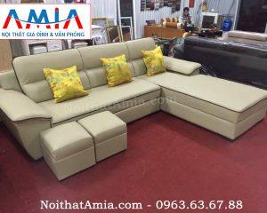 Hình ảnh cho mẫu sofa da phòng khách đẹp hiện đại AmiA SFD067