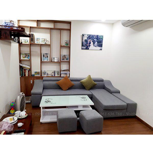 Hình ảnh đại diện cho mẫu ghế sofa nỉ đẹp hiện đại mã AmiA SFN098