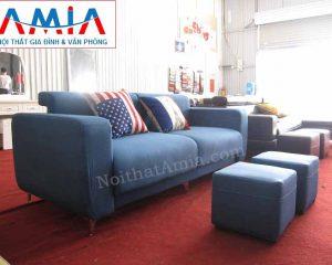 Hình ảnh cho mẫu ghế sofa văng nỉ đẹp 2 chỗ AmiA SFN104 đẹp hiện đại cho phòng khách đẹp