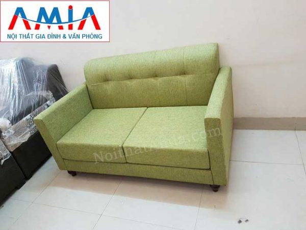 Hình ảnh cho mẫu ghế sofa văng nỉ 2 chỗ đẹp hiện đại và sang trọng cùng thiết kế rút khuy