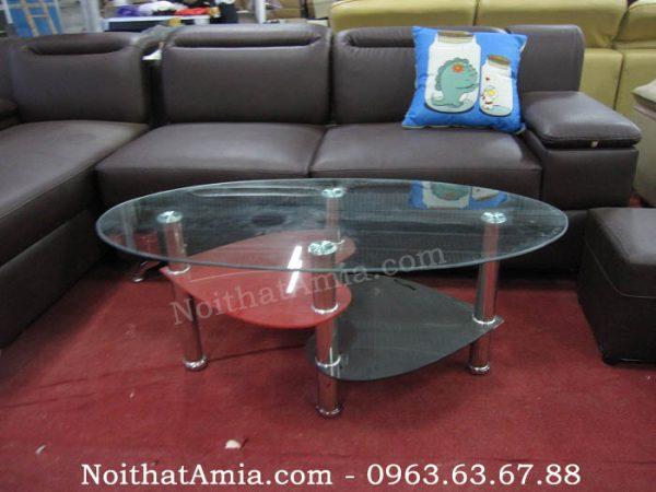 Hình ảnh cho bàn trà sofa đẹp kính cường lực cho không gian phòng khách hiện đại