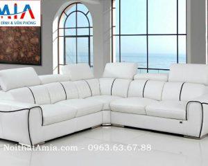 Hình ảnh cho mẫu ghế sofa da góc 4 chỗ đẹp hiện đại và sang trọng cho phòng khách đẹp