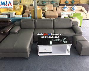 Hình ảnh Sofa da góc phòng khách giá rẻ tại Hà Nội khu vực Hà Đông