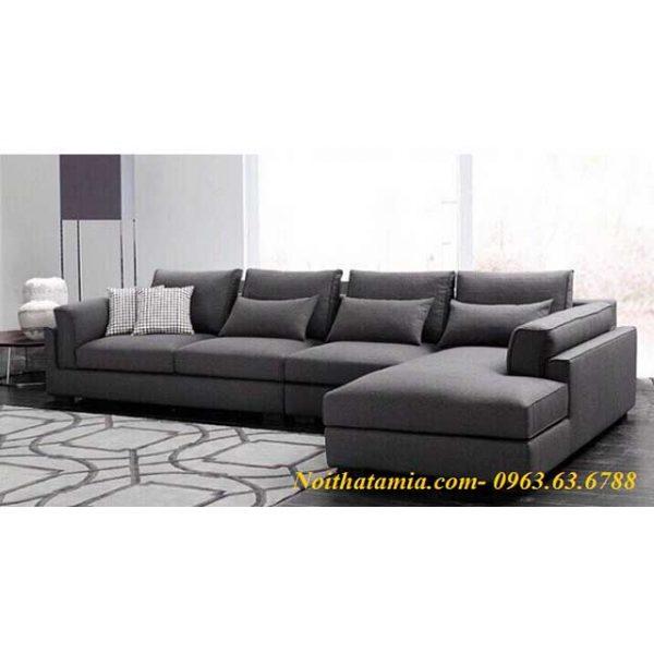 Hình ảnh mẫu ghế sofa nỉ chữ L 4 chỗ là sự lựa chọn hoàn hảo dành cho bạn
