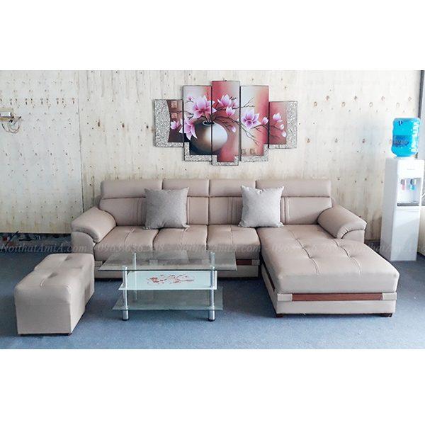 Hình ảnh đại diện mẫu ghế sofa da đẹp chữ l thiết kế hiện đại và sang trọng