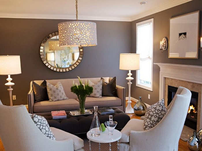 Hình ảnh mẫu ghế sofa văng đẹp kết hợp với ghế đơn cho căn phòng khách gia đình