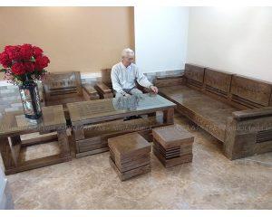 Hình ảnh đại diện bộ ghế sofa gỗ đẹp chụp tại phòng khách đẹp