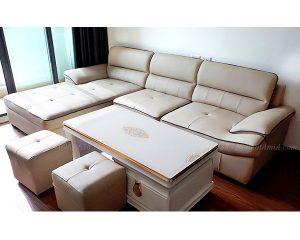 Hình ảnh đại diện ghế sofa da chữ L đẹp hiện đại và sang trọng