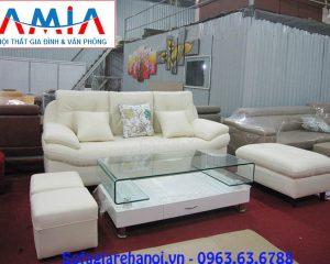 Hình ảnh ghế sofa nhỏ xinh màu trắng đẹp mê ly