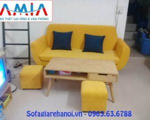 Hình ảnh mẫu ghế sofa nhỏ gọn, sofa mini đẹp hiện đại với thiết kế dạng ghế sofa văng đẹp
