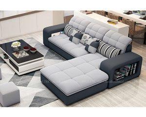 Hình ảnh Mẫu ghế sofa đẹp nỉ chữ L thật hiện đại và sang trọng