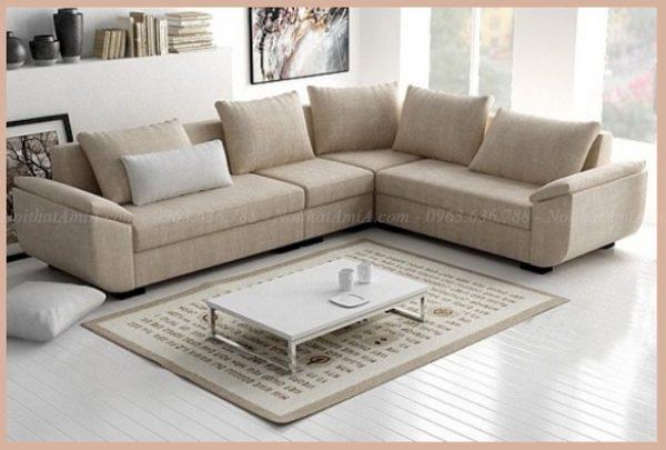Hình ảnh Mẫu sofa đẹp thiết kế trẻ trung, chất liệu vải nỉ