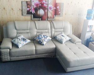 Hình ảnh Bộ ghế sofa da đẹp hiện đại tại Hà Nội với thiết kế kiểu dáng chữ L