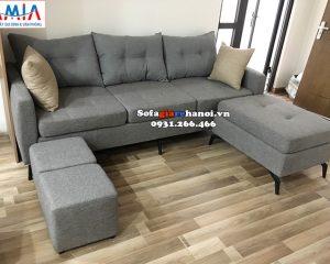 Hình ảnh Mẫu ghế sofa nhỏ mini thiết kế dạng ghế văng nỉ cho phòng khách nhỏ, nhà nhỏ, nhà chung cư