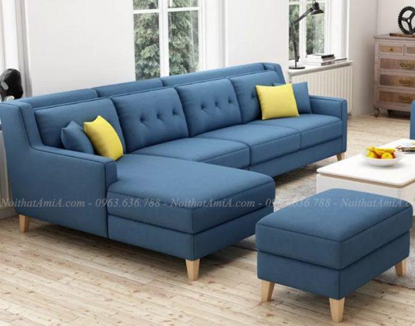 Hình ảnh mẫu ghế sofa nỉ phòng khách đẹp cho không gian ngôi nhà Việt