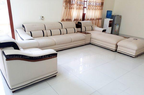 Hình ảnh Mẫu sofa da đẹp cho phòng khách gia đình thật hiện đai và sang trọng