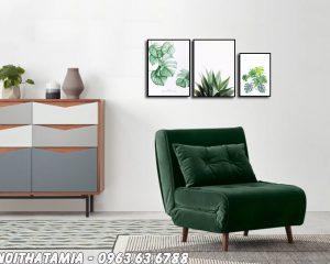Hình ảnh Sofa đơn phòng ngủ thiết kế gọn gàng, nhỏ nhắn, xinh xắn