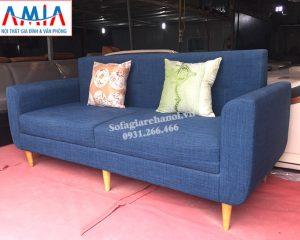 Hình ảnh Ghế sofa văng nỉ đẹp thiết kế hiện đại 2 chỗ nhỏ xinh