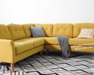 Hình ảnh Mẫu ghế sofa nỉ đẹp kiểu dáng hiện đại cho phòng khách gia đình