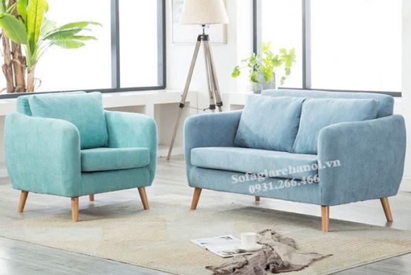 Hình ảnh Sofa văng nhỏ mini đẹp hiện đại với gam màu tươi mới, mới lạ