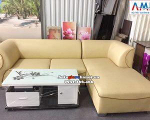 Hình ảnh Ghế sofa da giá rẻ đẹp cho phòng khách hiện đại