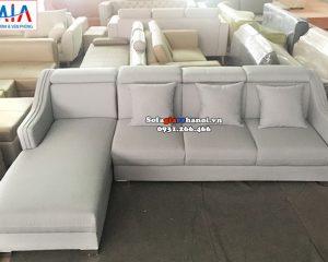 Hình ảnh Mẫu sofa nỉ góc chữ L 4 chỗ cho phòng khách đẹp gia đình
