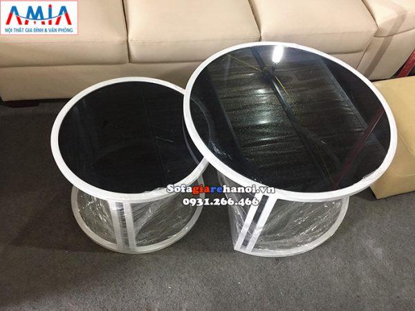 Hình ảnh Mẫu bàn trà sofa hiện đại giá rẻ Hà Nội cho phòng khách đẹp gia đình