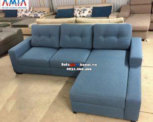 Hình ảnh Mẫu ghế sofa nỉ chữ L đẹp giá rẻ Hà Nội cho không gian phòng khách hiện đại