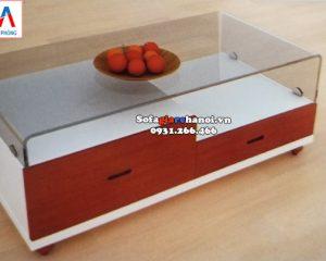 Kích thước bàn trà sofa đẹp giá rẻ mặt kính hiện đại