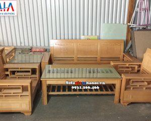 Hình ảnh Ghế sofa gỗ phòng khách đẹp gia đình thiết kế kiểu bàn ghế gỗ đẹp