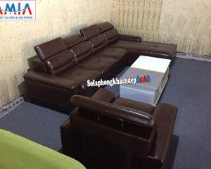 Hình ảnh Ghế sofa da phòng khách cao cấp kích thước lớn