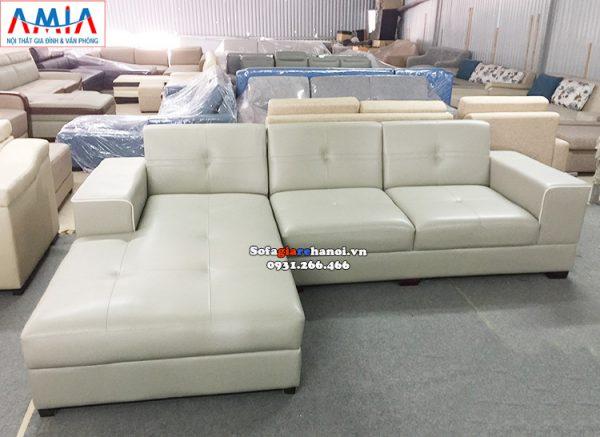 Hình ảnh Sofa giá rẻ cho nhà có trẻ nhỏ thiết kế hình L 3 chỗ tiện lợi