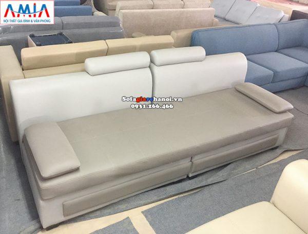 Hình ảnh Ghế sofa giá rẻ phòng khách chung cư kết hợp đôn lớn hiện đại
